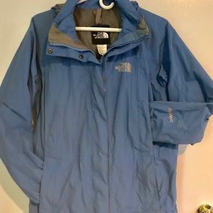 North Face Women's Blue Hyvent Jacket, Size S